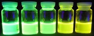 発光の色が異なる有機化合物
